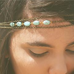 banda para el cabello cadena turquesa bohemia