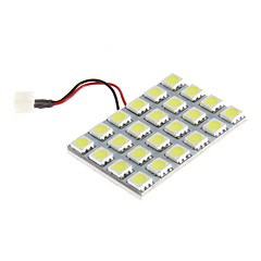 24x5050SMD 6000K Cool White Light LED Pære til bil (12V)