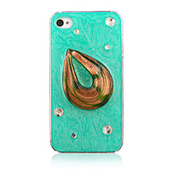 Fashion Special Design Pattern with Diamond Transparent Frame Back Case for iPhone 4/4S