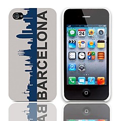 Barcelona Style Hard Case with 3-Pack Screen Protectors for iPhone 4/4S