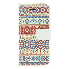 Vintage Colorful Stripe Pattern PU Full Body Case For iPhone 5/5S