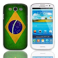 Vintage Brasilian lippu Pattern Hard Case 3-Pack Näytön suojainten Samsung Galaxy S3 I9300