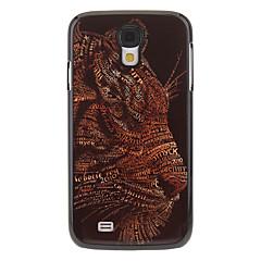 Leopard målning mönstrar Aluminium hårda tillbaka fallet täcker för Samsung Galaxy S4 I9500