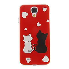 Romantic Cats Mönster Plast Skyddande baksidafallet täcker hårt för Samsung Galaxy S4 I9500