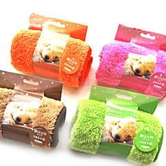 Cachorro Toalha / Limpeza Animais de Estimação Capachos e Alcochoadas Macio Verde / Castanho / Rosa / Laranja Malha polar