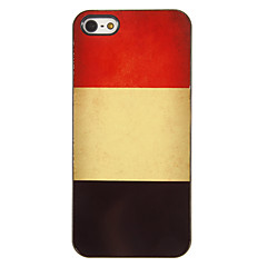 Vintage Design Belgian Flag Aluminum Hard Case with 3 Packed HD Screen Protectors for iPhone 5/5S