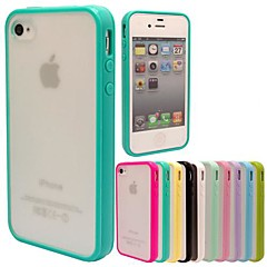 MAYLILANDTM TPU Frame Scrub PC Back Cover Case for iPhone 4/4S (Assorted Colors)