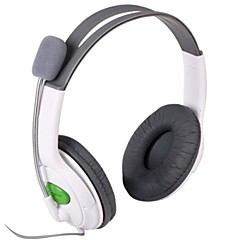 Stilfuld Stereo Headset Headphone til Xbox 360 - White (2.5mm stik / 100cm)