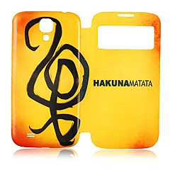 The gradient yellow style Skylight Design Leather Full Body Case for Samsung Galaxy S4 I9500