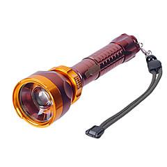 LT-C8153 recargable 3-Mode del Cree XP-E Q5 LED linterna del zumbido (550LM, 1x18650, Oro)