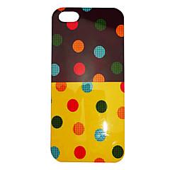 Estilo simples teste padrão colorido Dot terreno de volta para o iPhone 5/5S