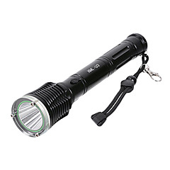 LT-C05 recargable 5-Mode del Cree XM-L U3 LED Flashlight (1500LM, 1x18650/3xAAA, Negro / Brown)