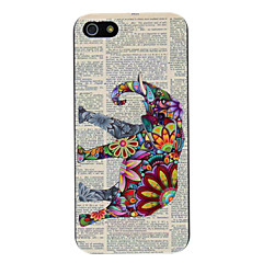 Relief gestaltete bunte Elefant-Muster PC Hard Case für iPhone 5/5S