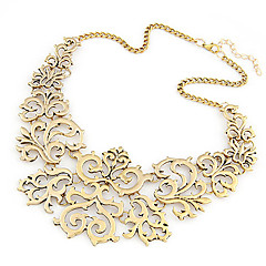 Women's Collar Necklace Statement Necklaces Alloy Fashion Silver Golden Jewelry Party Daily 1pc