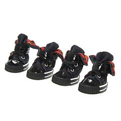 Todas las Estaciones - Negro Algodón / Cuero PU - Calcetines y Botas - Perros / Gatos - XS / S / M / L / XL