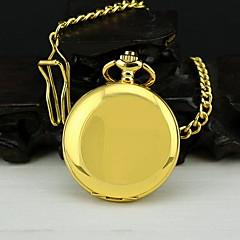Men's Gold Alloy Quartz Pocket Watch
