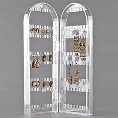 120 Holes 2 Arches Transparent Plastic Jewelry Display For Earrings