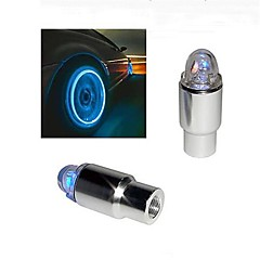 Super Bright blå blinkende LED Tire Lys (2-Pack)