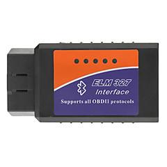 OBDII Bluetooth Car Diagnostic Cable - Svart + Blå + Orange (DC 12V)