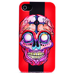 Red Cartoon Skull Pattern Back Case for iPhone 4/4S