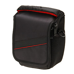 Mini New F029S-RD One-shoulder Camera Bag (Black+Red)