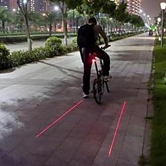 Φώτα Ποδηλάτου / Πίσω φως ποδηλάτου LED / Laser Ποδηλασία Αδιάβροχη / Ένθετο Επίθεσης / Προειδοποίηση Lumens Μπαταρία