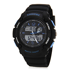 Men's Multi-Functional Digital Dial Rubber Band Wrist Watch (Assorted Colors)