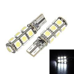 Merdia T10 13x5050SMD LED Luce Bianca per Canbus Decoded Car Targa lampada / lampada di lettura (Pair/12V)