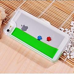 Intégré dans le poisson gratuit avec style de l'eau de cas de PC transparent pour iPhone 5/5S