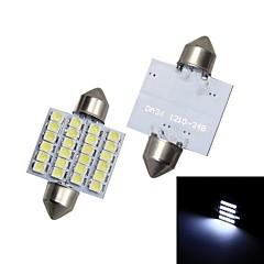 Merdia 39MM 24 x 1210 SMD LED White Light  for Car Festoon License Plate Lamp / Clearance light / Reading Light (pair / 12V)