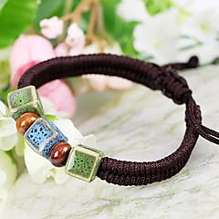 Vintage Beads 22cm Women's Brown Ceramic Friendship Bracelet(More Colors)(1 Pc)