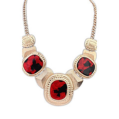 Women's European and America Fashion Acrylic Bead Alloy Statement Necklace (More Color)  (1 pc)