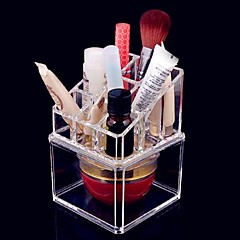 Acrylic Transparent Complex Combined Double Layer Cosmetics Storage Box Makeup Brush Pot Cosmetic Organizer