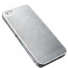 Ultrathin Grid Pattern Metal Hard Case for iPhone5/5S(Assorted Color)