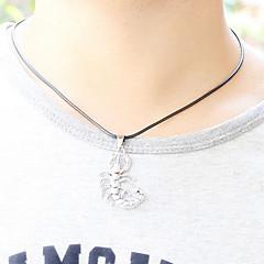 Z&X®  Gothic (Scorpion) Black Leather Pendant Necklace (1 Pc)
