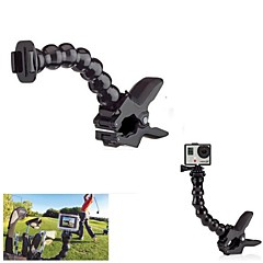 G-255 hurtig frigivelse Plate Clamp Fleksibel Mount w / Magic Joint Jaws Mount til GoPro Hero 3 + / 3/2