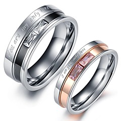 Ring Heart Wedding Party Daily Jewelry Stainless Steel Couples Couple Rings8 White