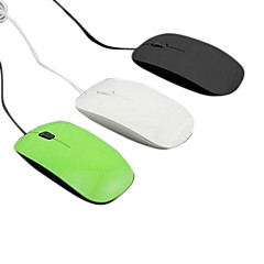 USB Wired Ultrathin Optical High-speed Mouse (Assorted Colors)