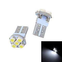 Merdia T10 2.5W 60LM 5x3528SMD LED White Light Istrument Light / Reading Light /Clearance Lamp (Pair/12V)