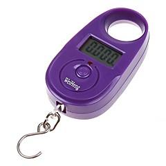 25kg * 5g Mini Purple Digital Display Opknoping Bagage Vissen weegschaal KG LB