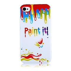 Ice Cream Melt Pattern Silicone Soft Case for iPhone5/5S