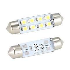 Merdia Festoon 41mm  8 x SMD 1210  LED White Light  for Car Steering Light Bulb / Reading Lamp - (2 PCS)