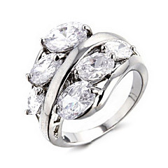 Wedding Style Fashion Silver Ring