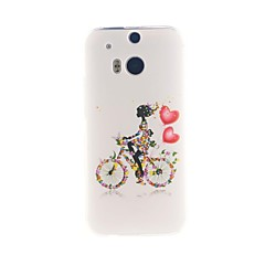 Para Capinha HTC Estampada Capinha Capa Traseira Capinha Mulher Sensual Macia TPU HTC