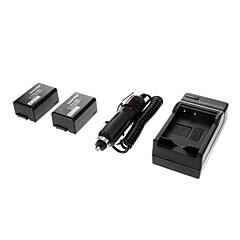 ismartdigi-Pana DMW-BMB9 (2stk) 895mah, 7.2V Batteri + Billader til Panasonic DMC-FZ40/FZ45/FZ47/FZ48/FZ100