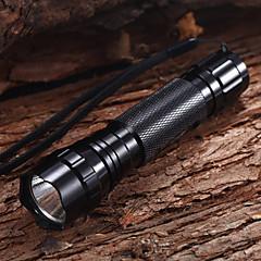 Cykellys LED Lommelygter / Cykellys Vanntett 1200 Lumens Batteri Cree XM-L T6 Sort Multifunktion
