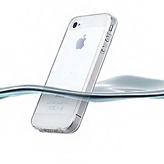 Ultrasubtiri Transparent caz silicon pentru iPhone 4/4S Back (asortate color)