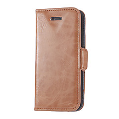 Concise Concave V Designed PU Leather Full Body Case with Stand and Card Slot for iPhone 5/5S (Assorted Colors)