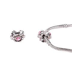 lumina aliaj roz whorled mari găuri margele DIY pentru colier sau bratara