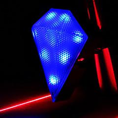 CoolChange diamante impermeable Luz de la cola de la bicicleta azul